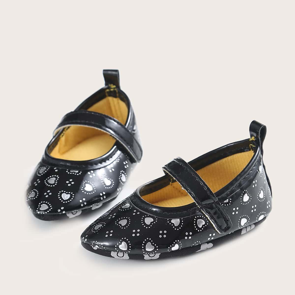 shein Mary Jane Hart Baby platte schoentjes
