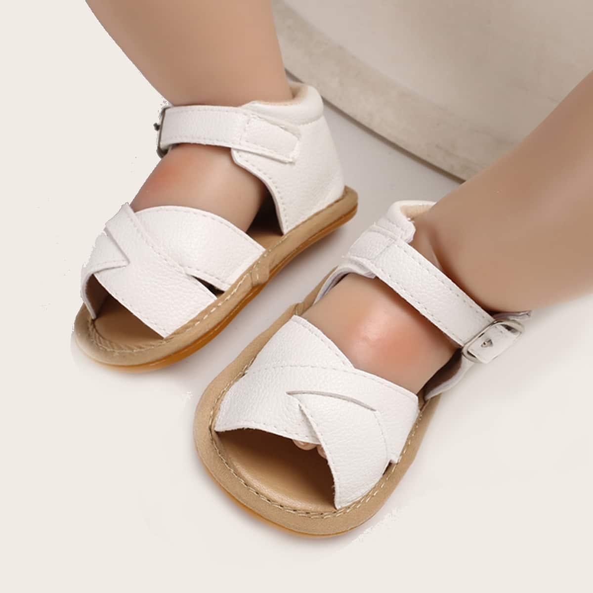 SHEIN Sandalen met enkelbandje verfraaid met gesp voor babymeisje