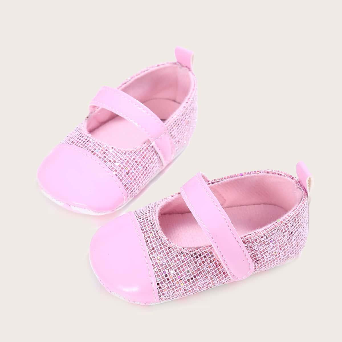 shein Mary Jane Vlak Baby platte schoentjes Glitter