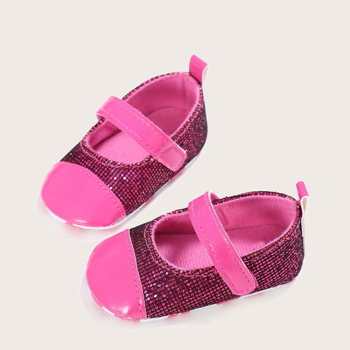shein Mary Jane Kleurblok Baby platte schoentjes Glitter