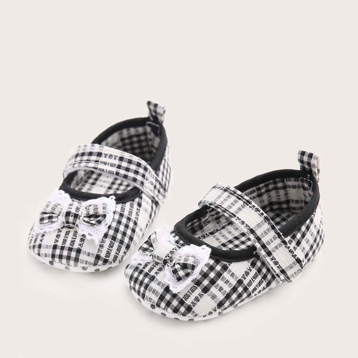 shein Mary Jane Gevlochten Baby platte schoentjes Boog
