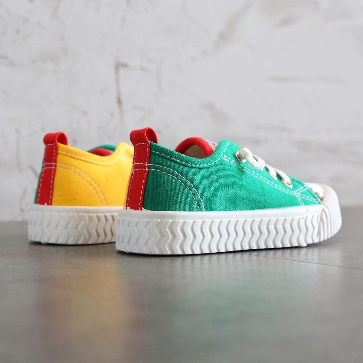 Контрастные холщовые туфли для девочек от SHEIN
