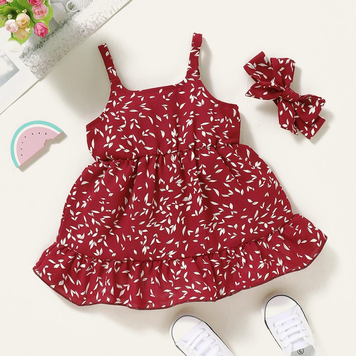 Многослойный Цветочный принт Бохо Платья для малышей от SHEIN