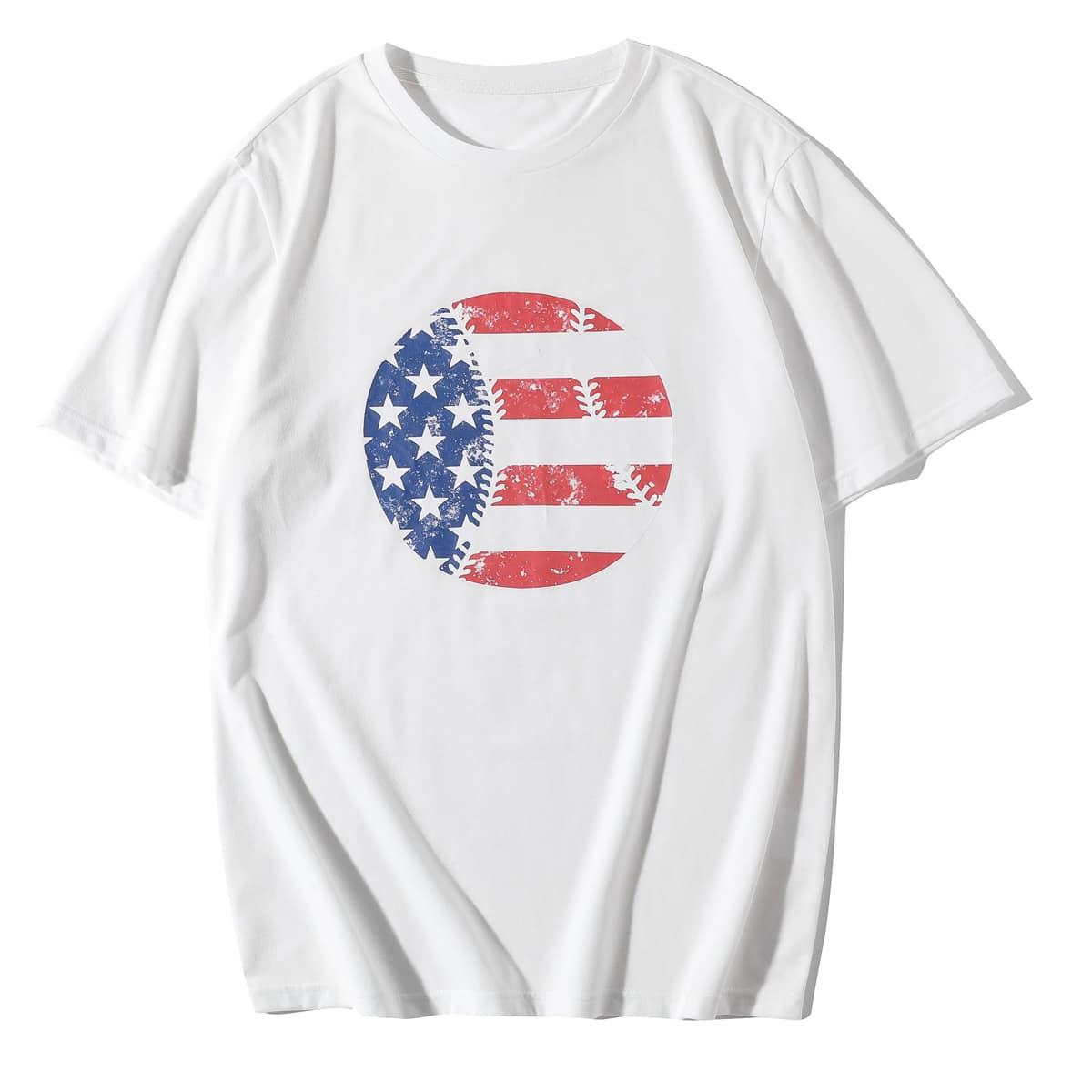 Мужская футболка со звездами и полосками по цене 567