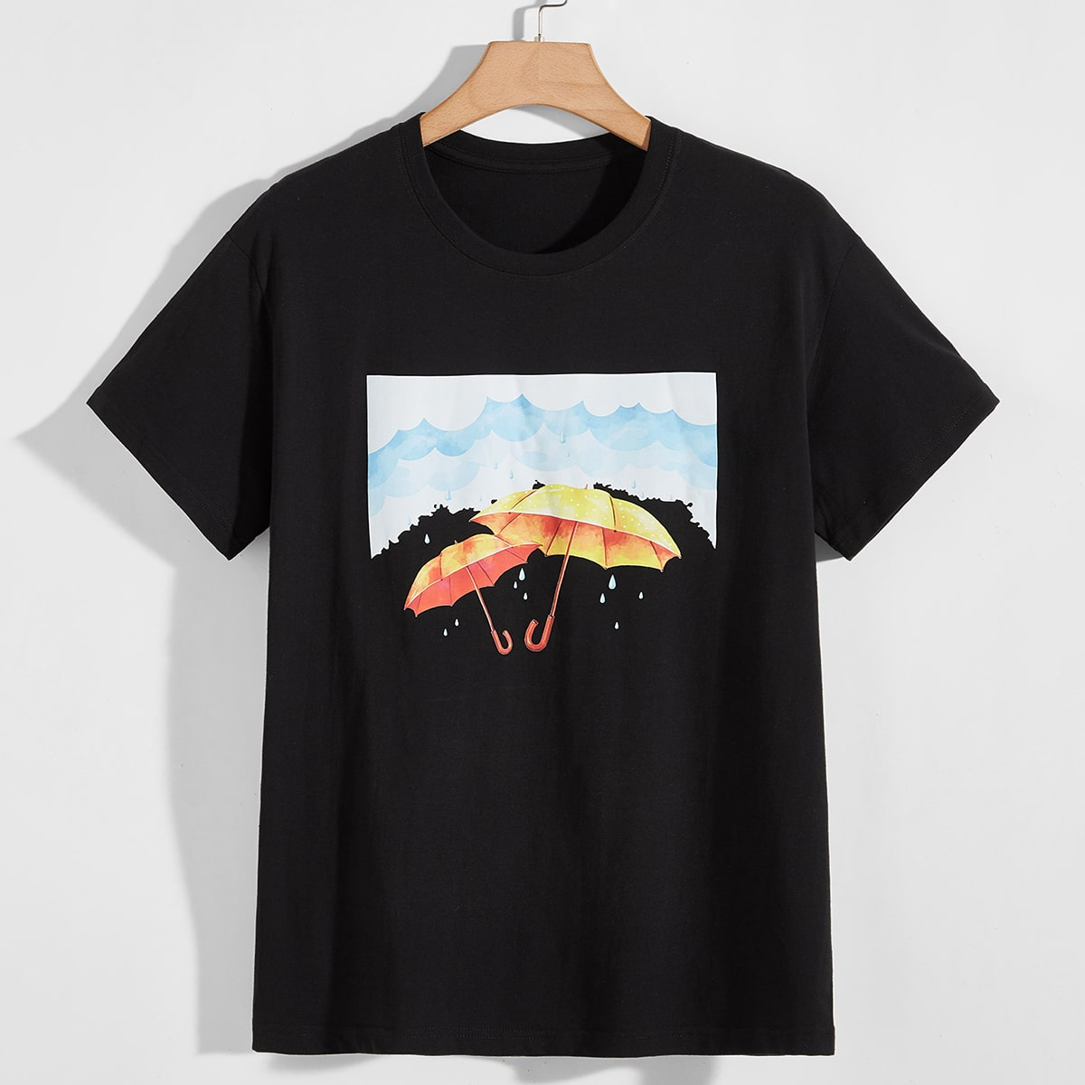 Men Umbrella Print Tee