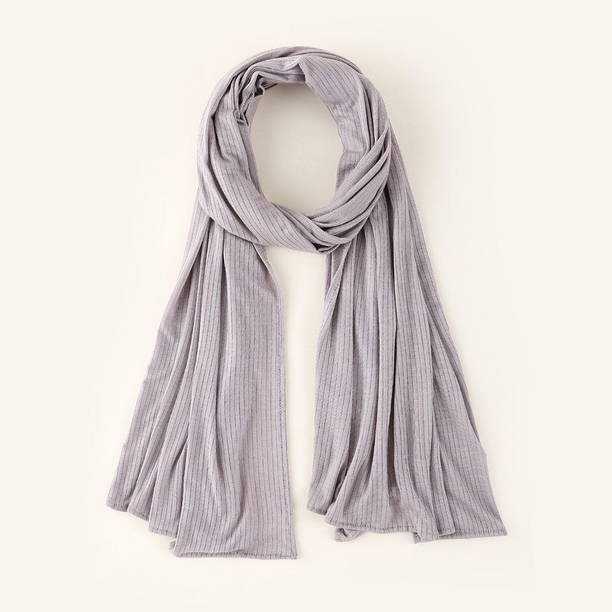 Однотонный шарф 1шт
