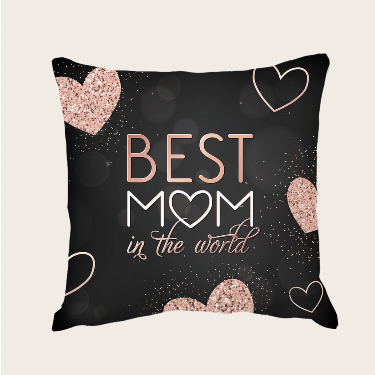 Mother's Day Slogan Graphic Cushion Cover Without Filler