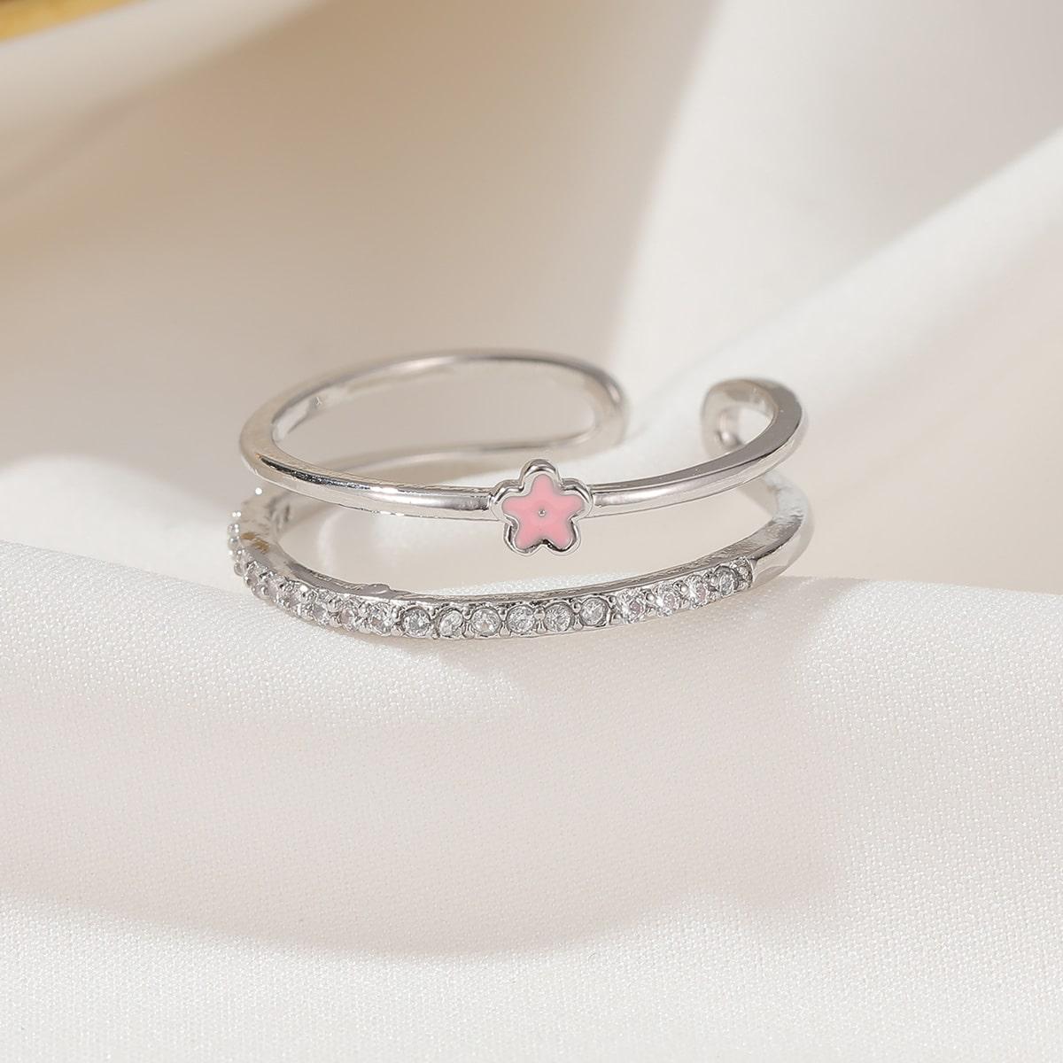 Girls Flower Decor Ring