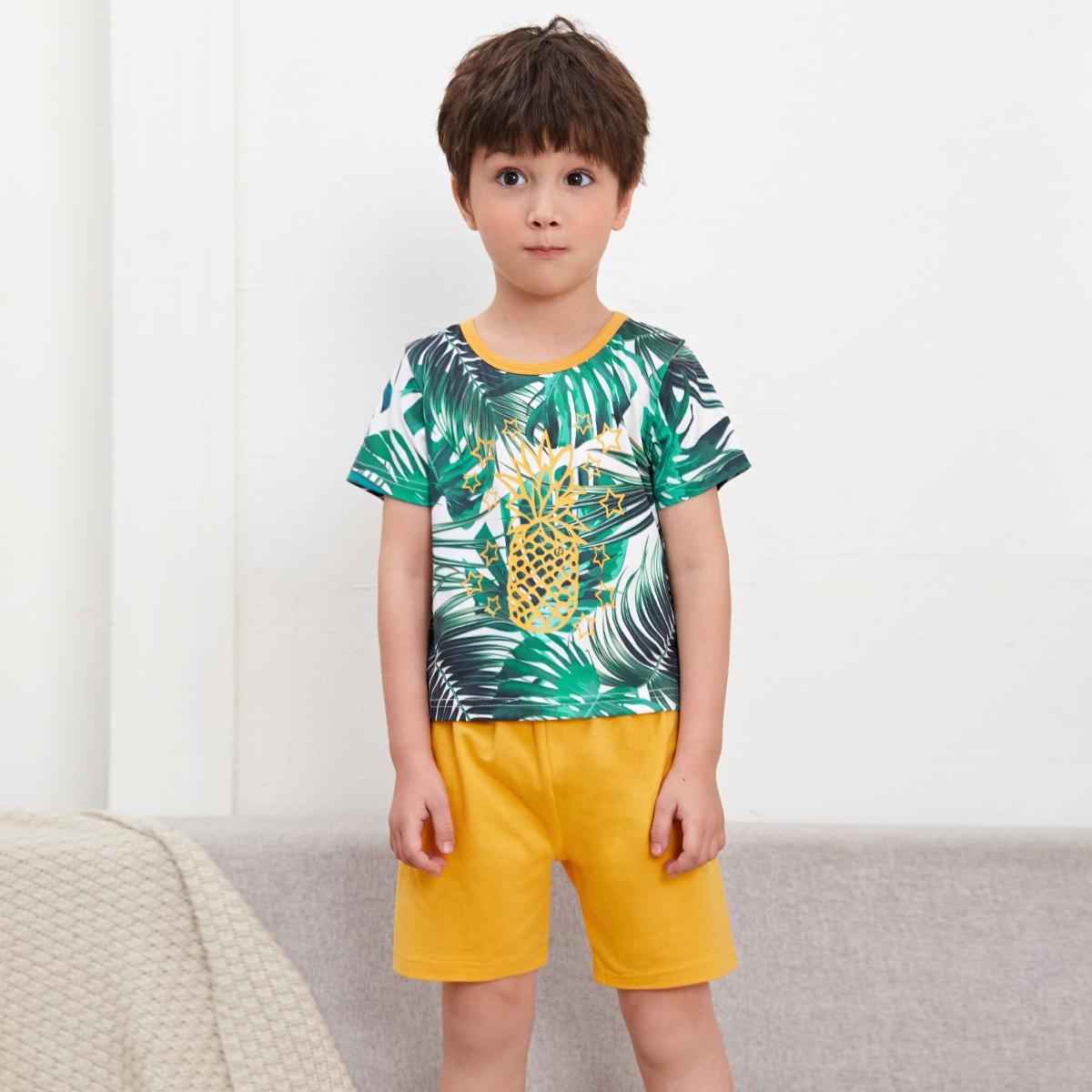 Тропический Повседневный Домашняя одежда для мальчиков