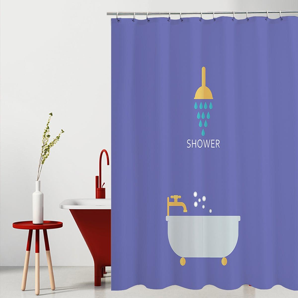 Shower Print Shower Curtain