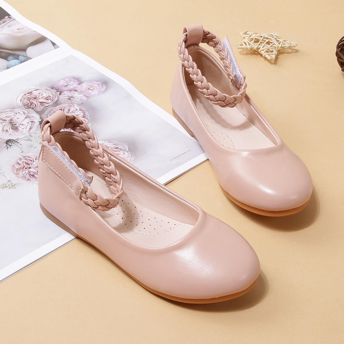 Плетеные балетки для девочек от SHEIN