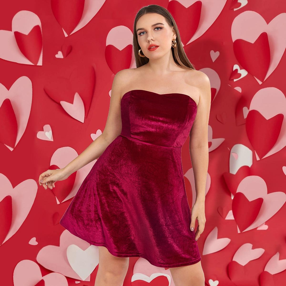 Одноцветный Элегантный Платья размер плюс