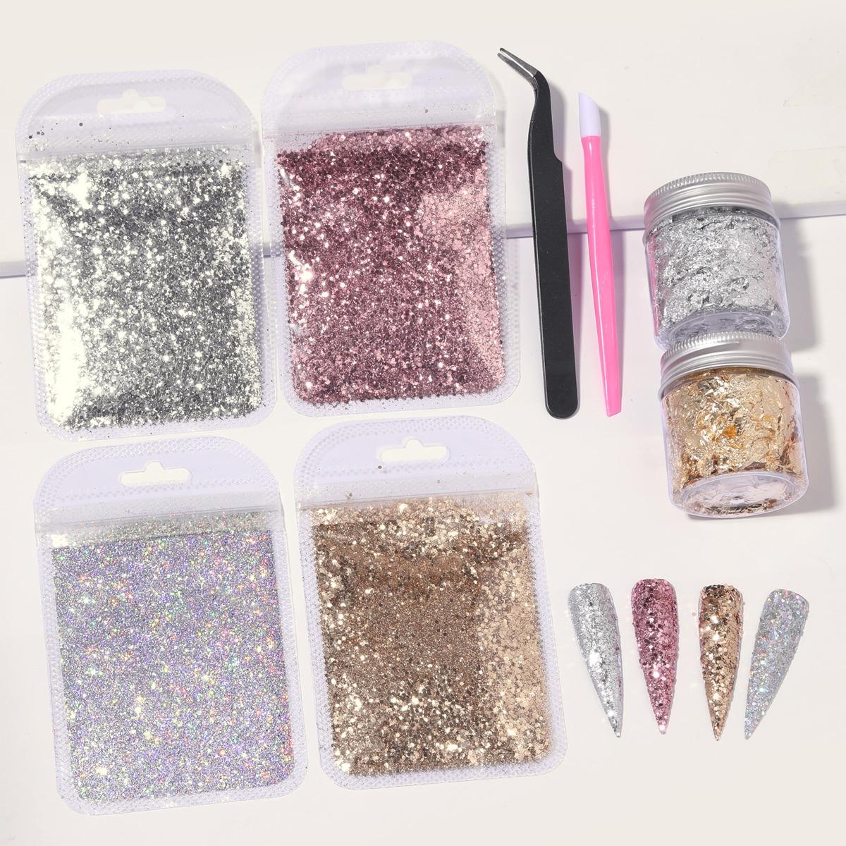 8pcs Nail Art Decoration & Nail Tool Set