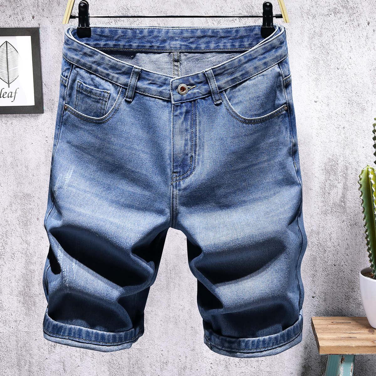 Мужские джинсовые шорты с карманом