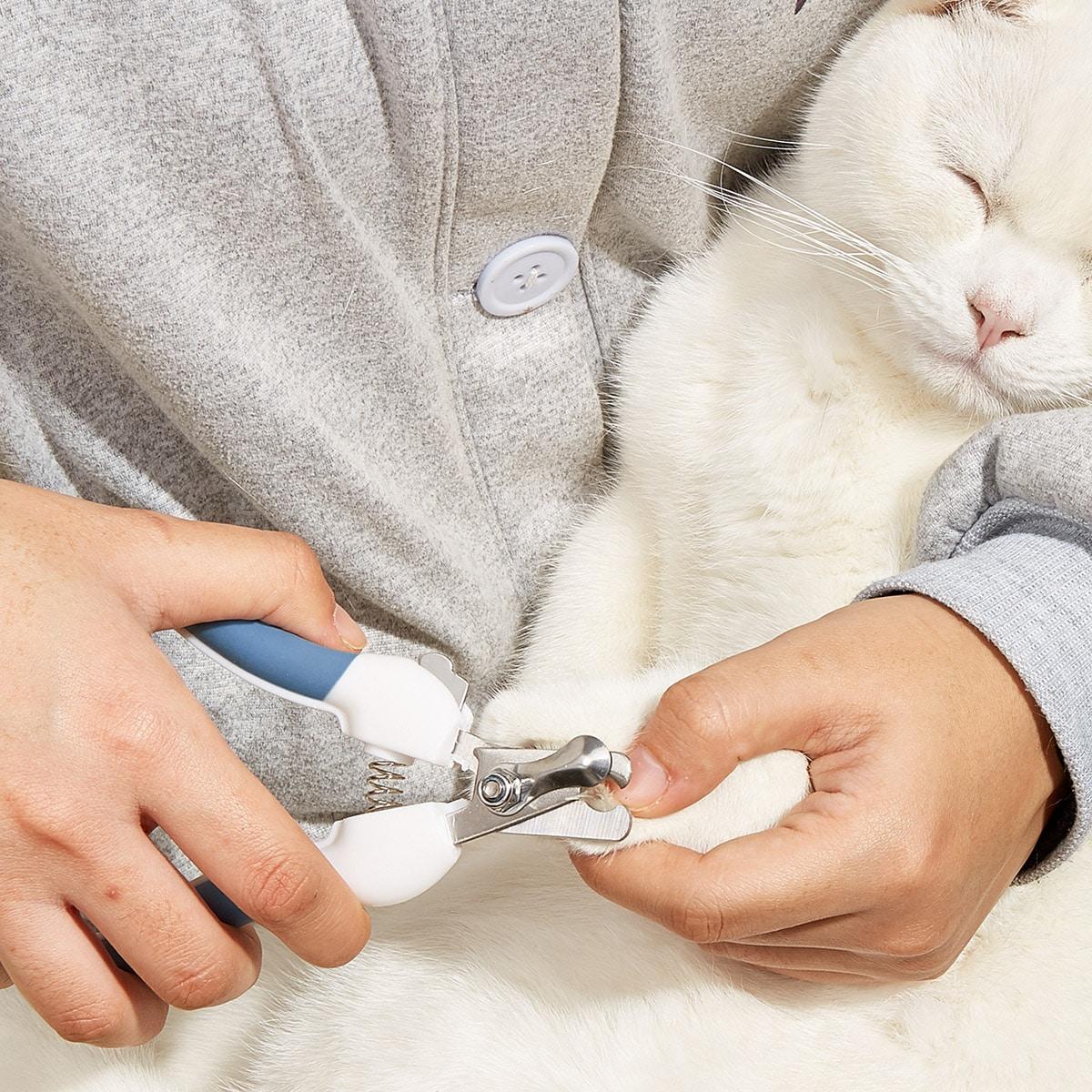 2pcs Pet Nail Clipper & Nail Polisher Set