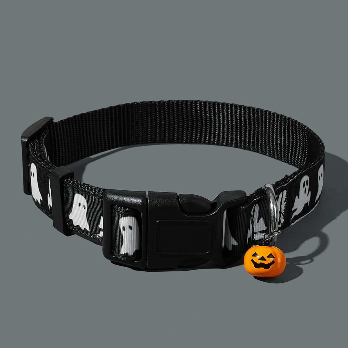 1 Stück Zufälliges Haustierhalsband mit Halloween Muster