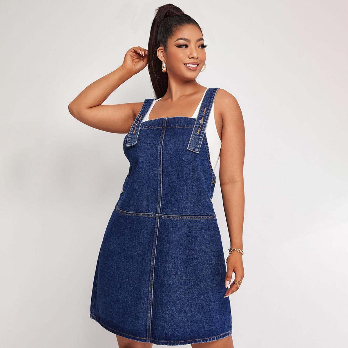 Платье размера плюс с карманами