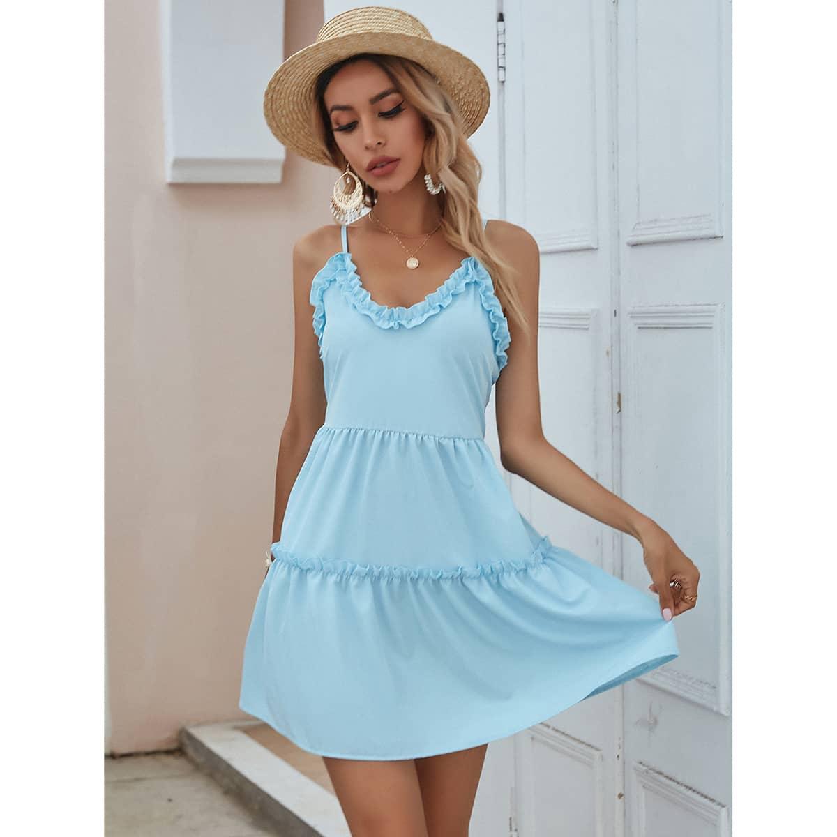 Платье на бретелях SheIn swdress23210106333