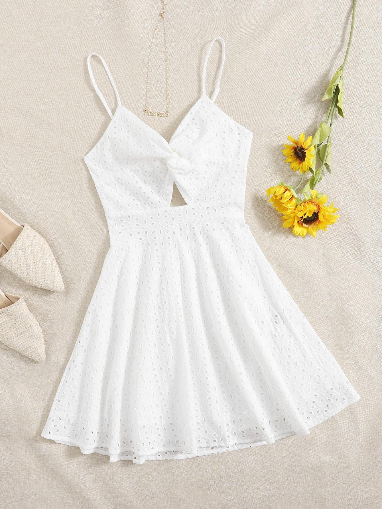 Платье на бретельках с драпировкойswdress07210119816