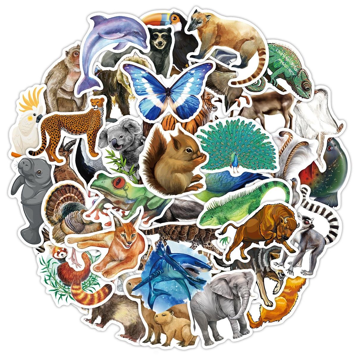 80pcs Animal Pattern Sticker