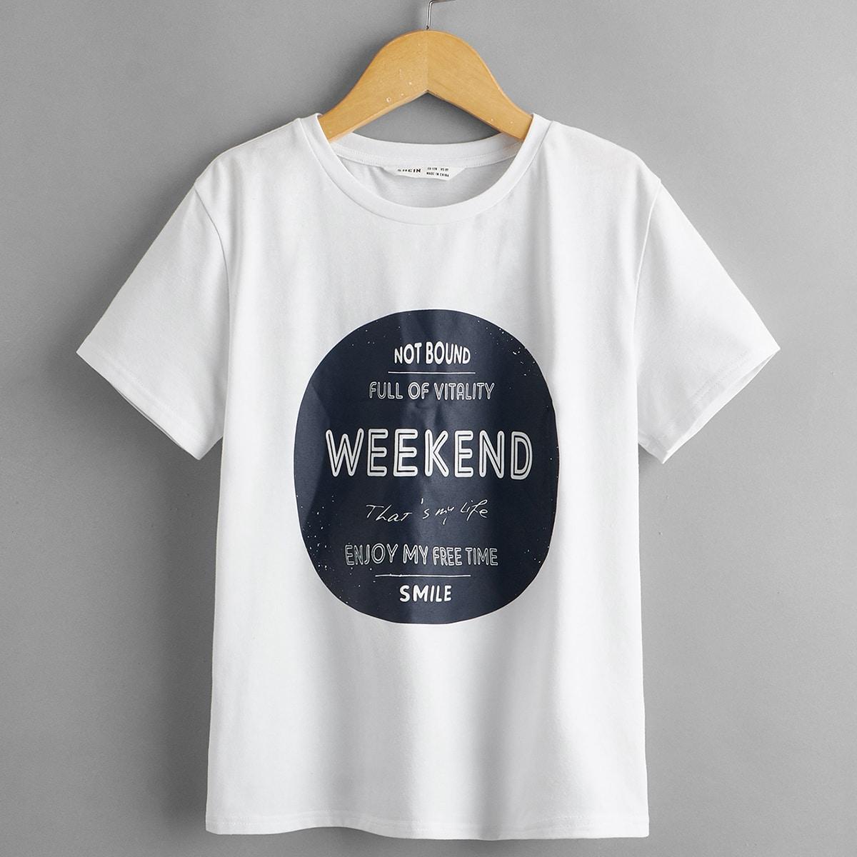 2 пакета футболка с текстовым принтом и шорты для мальчиков
