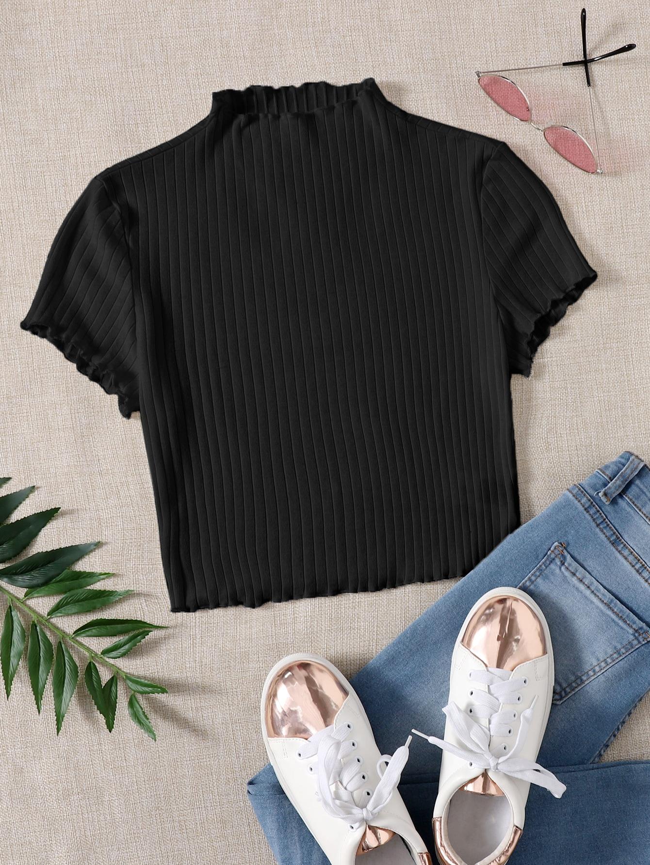 Вязаная футболка в рубчикswtee07210112939