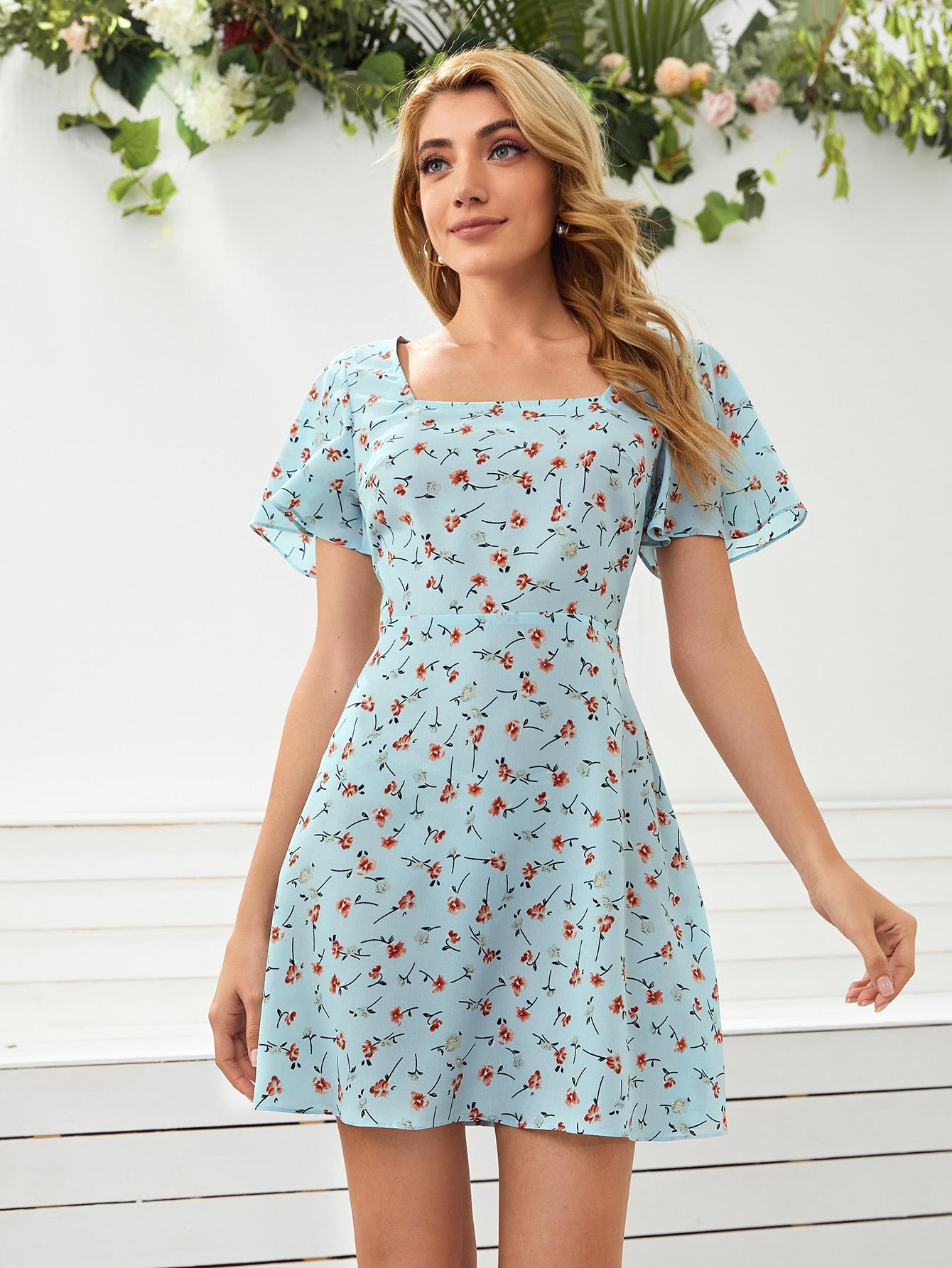 Платье с молнией и цветочным принтомswdress07210108677