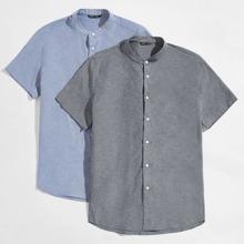 Guys 2 Pack Mock-Neck Shirt