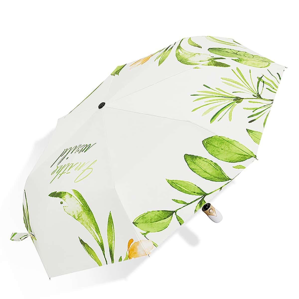 1шт автоматический зонт с принтом растений