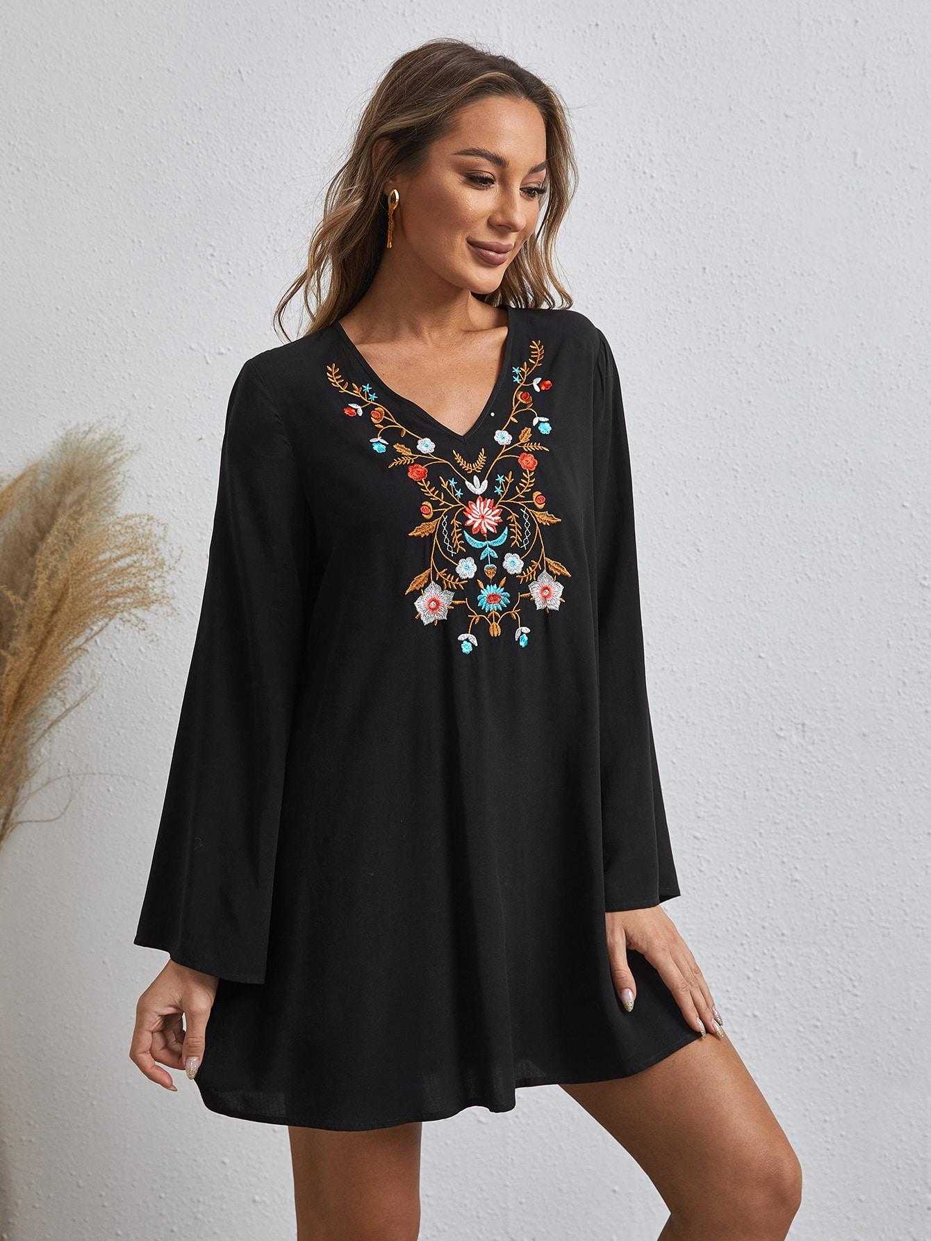Платье с цветочной вышивкойswdress07201231782