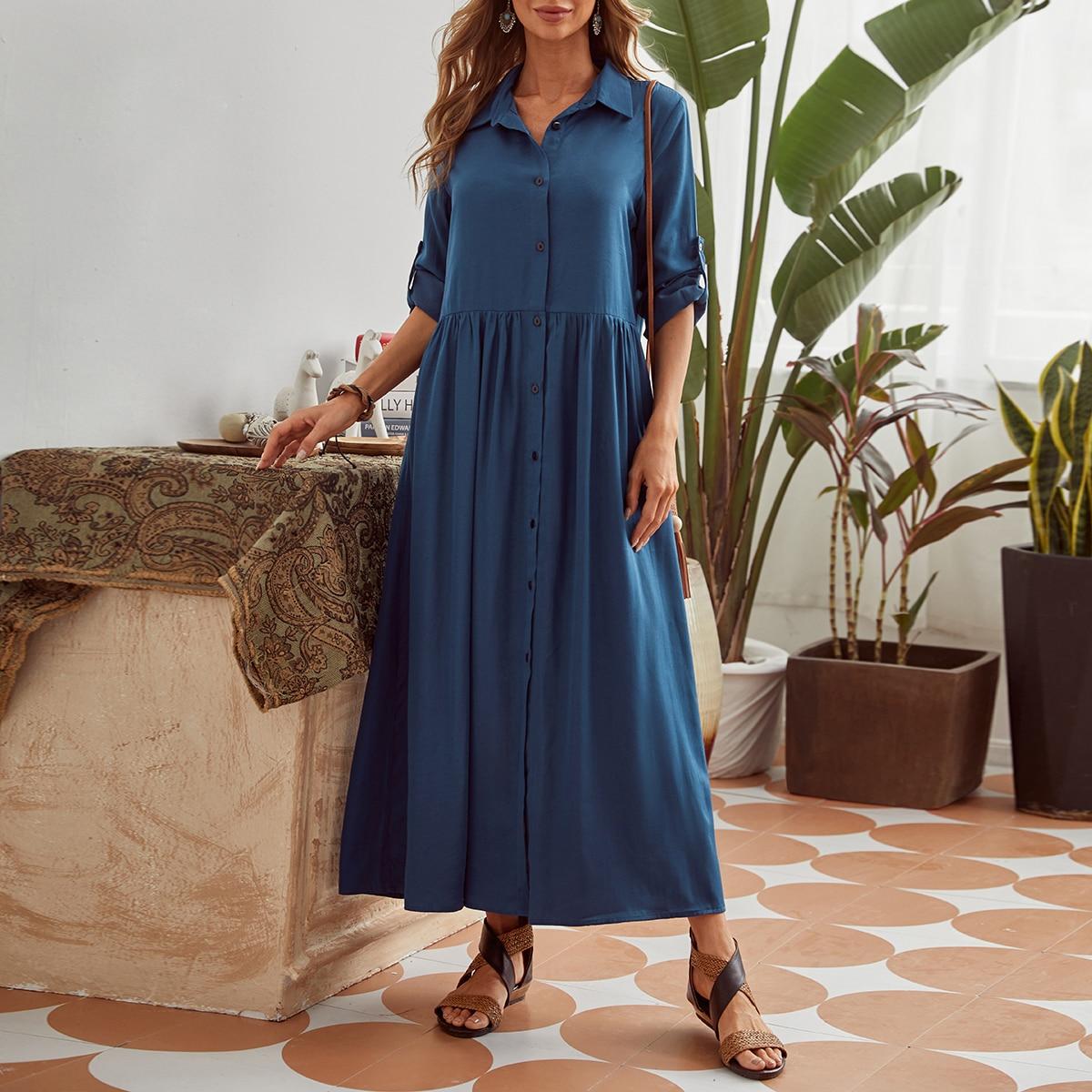 Платье-рубашка с пуговицами по цене 1 420