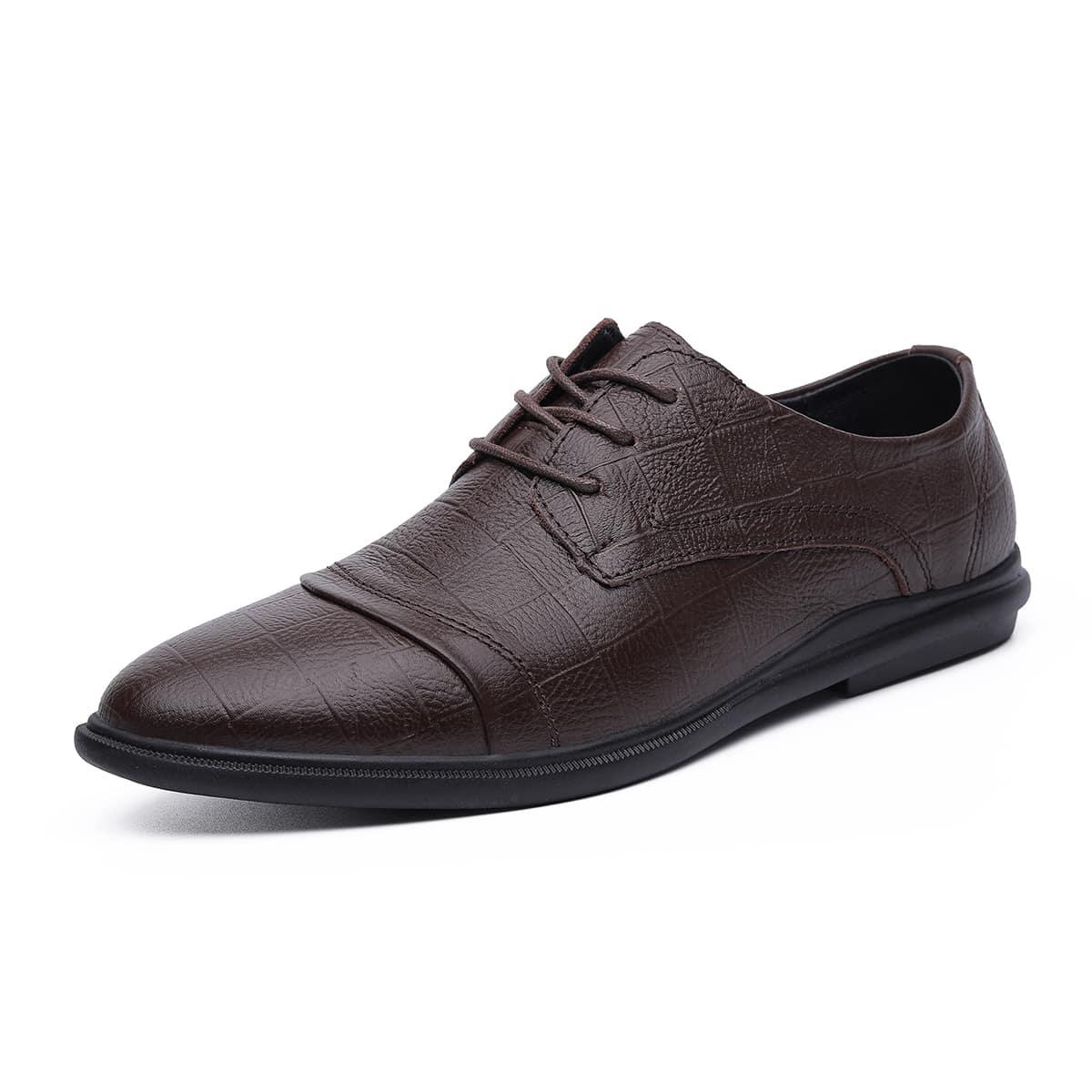 На шнурках геометрический принт мужская официальная обувь