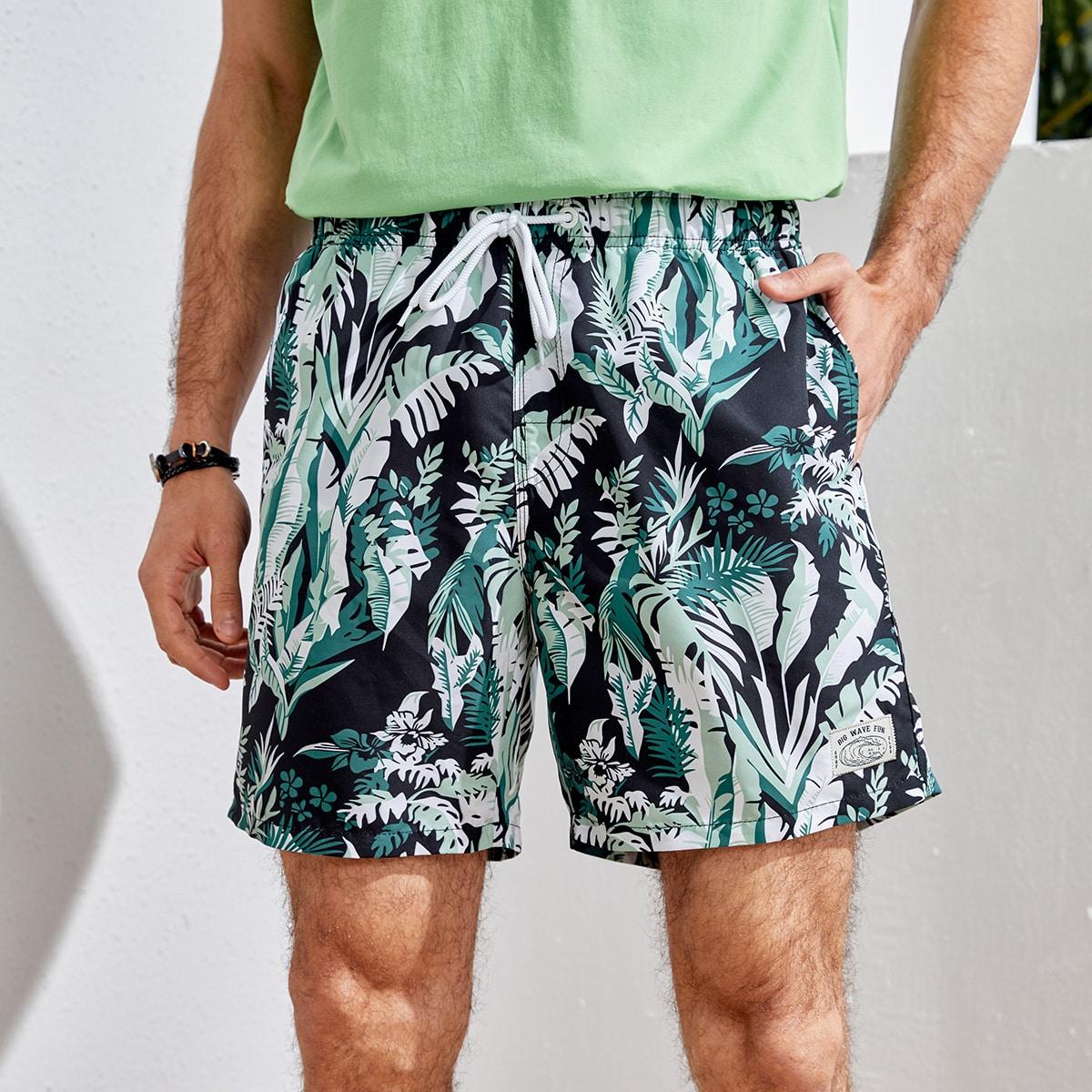 Аппликация тропический отпуск мужские купальники