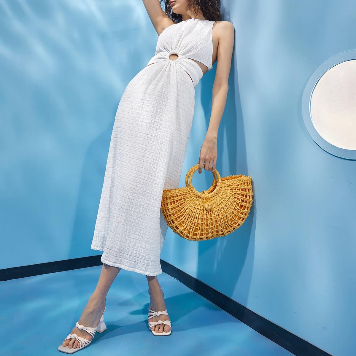 Платье с вырезом на спине SheIn swdress07201209797