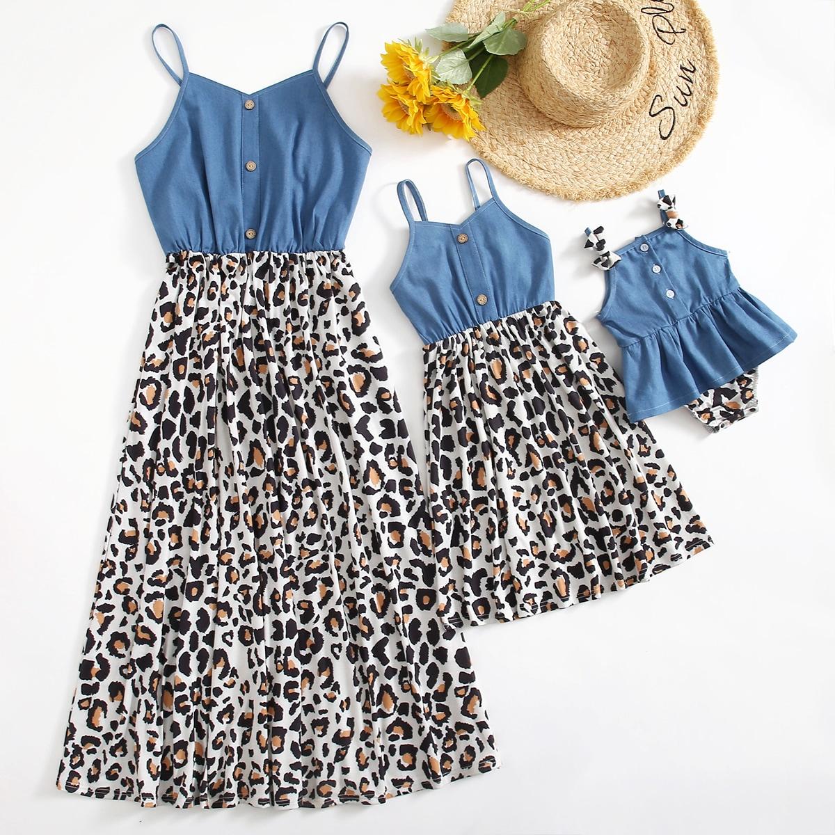 Платье-боди с оборкой для девочек от SHEIN
