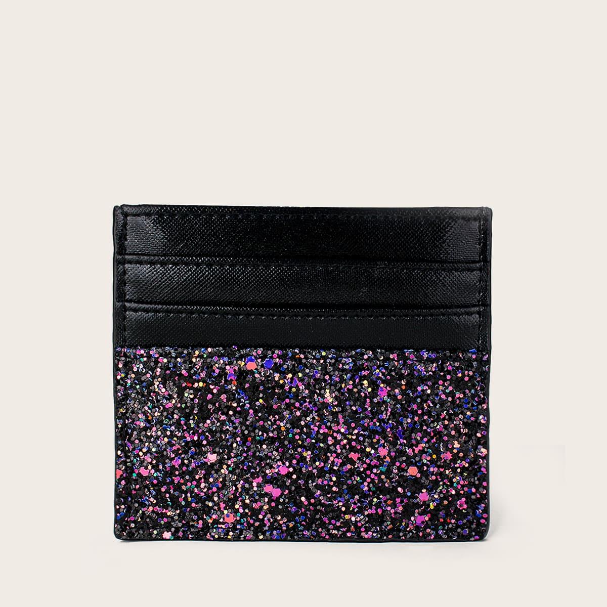 SHEIN Modieus Kleurblok Handtas Glitter