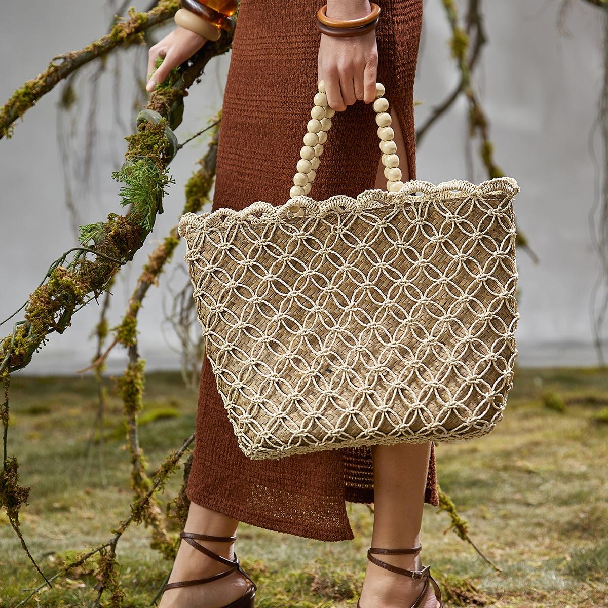 Плетеная сумка-тоут