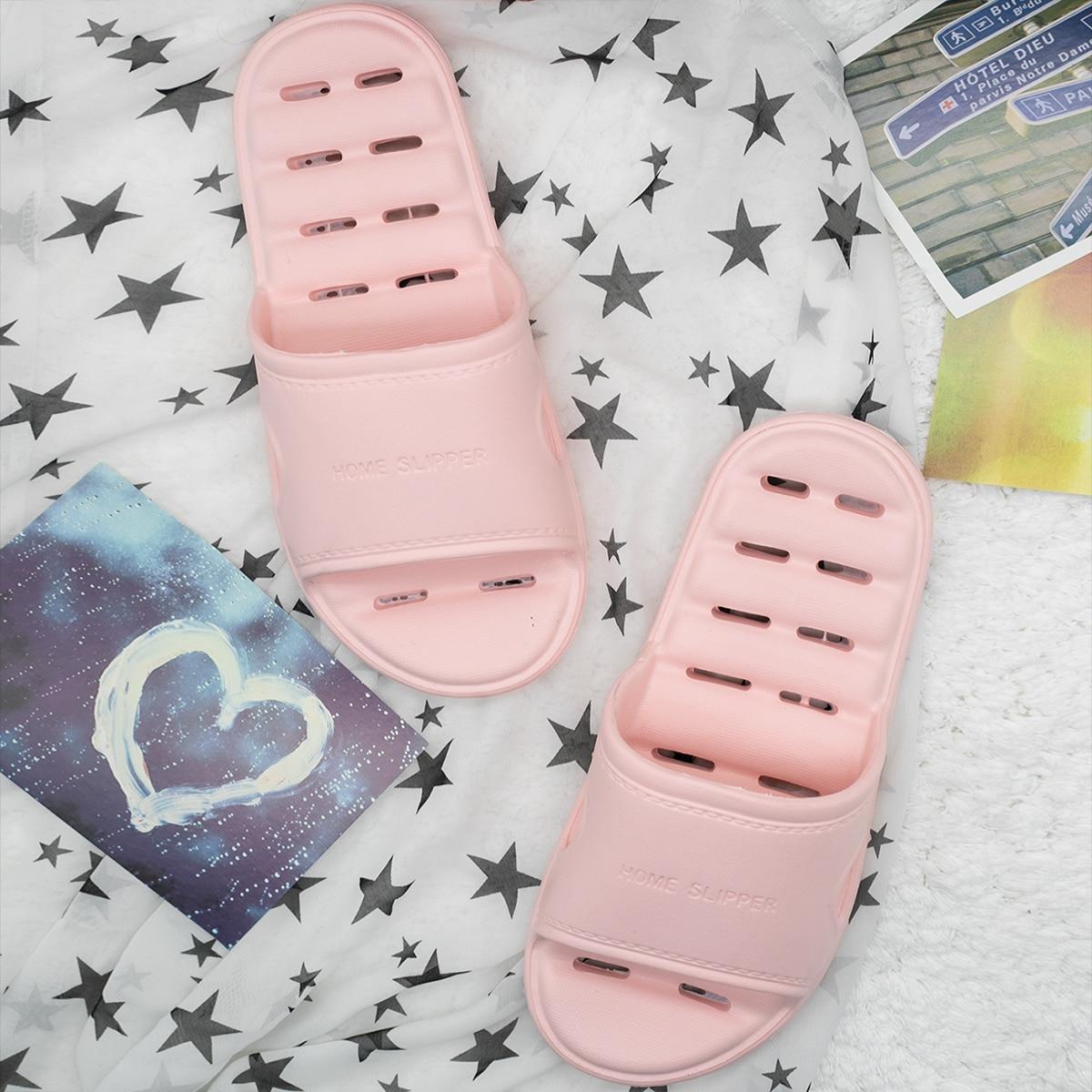 SHEIN Slippers met holle zool met letterpatroon