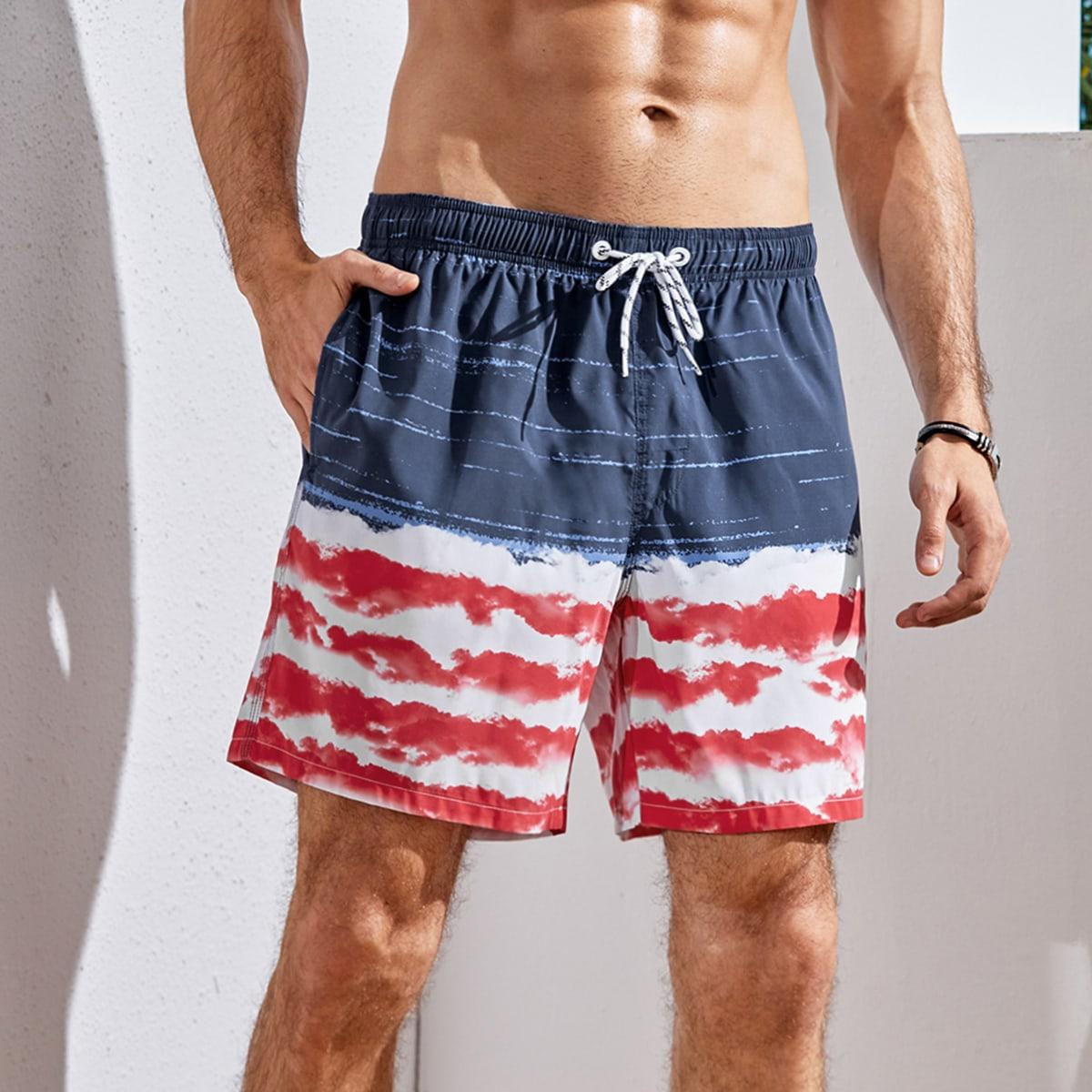 На кулиске контрастный цвет отпуск мужские купальники