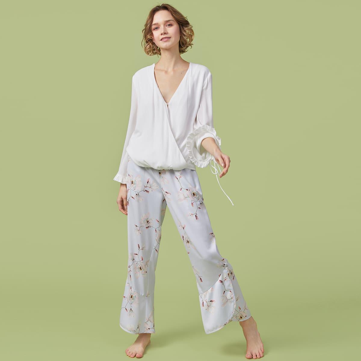 Пижама с цветочным принтом