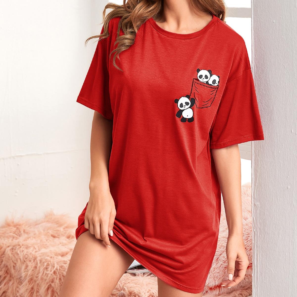 Ночная рубашка с принтом панды по цене 700