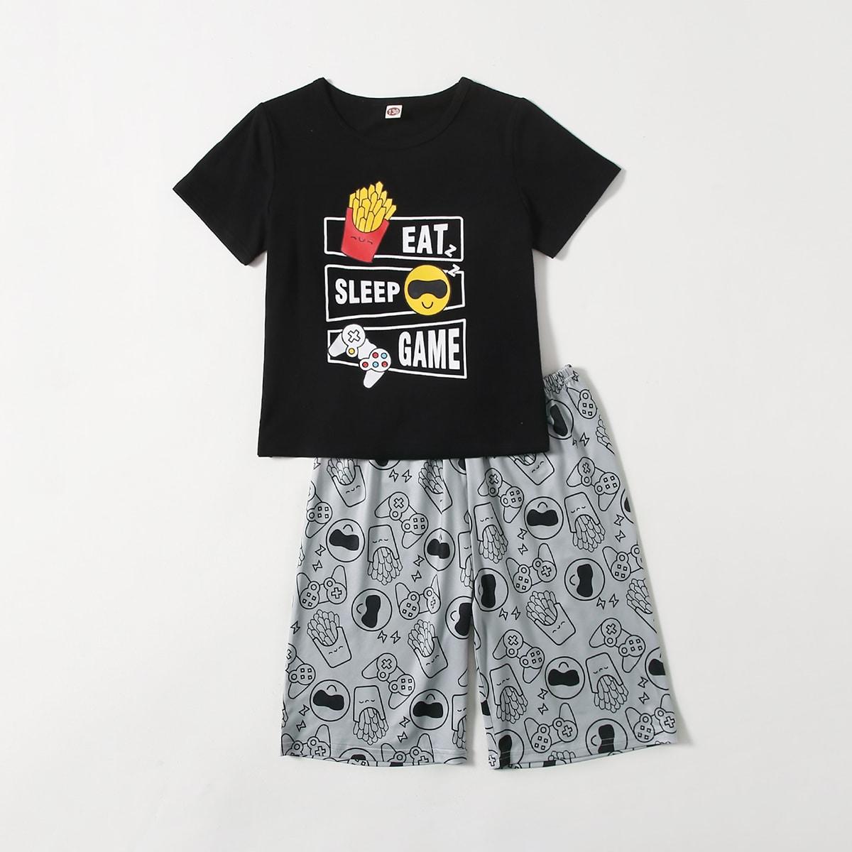 Пижама с графическим принтом для мальчиков