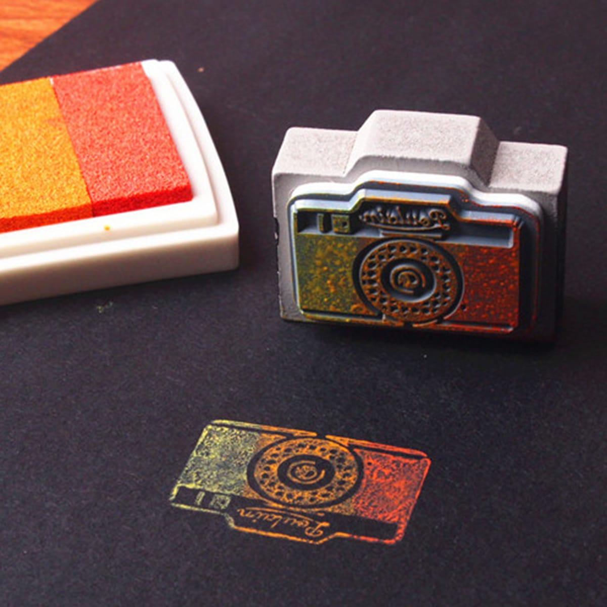 1шт случайный деревянный штамп в форме камеры