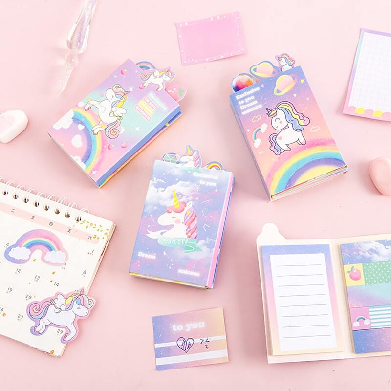 1pc Unicorn Print Random Sticky Note, Multicolor