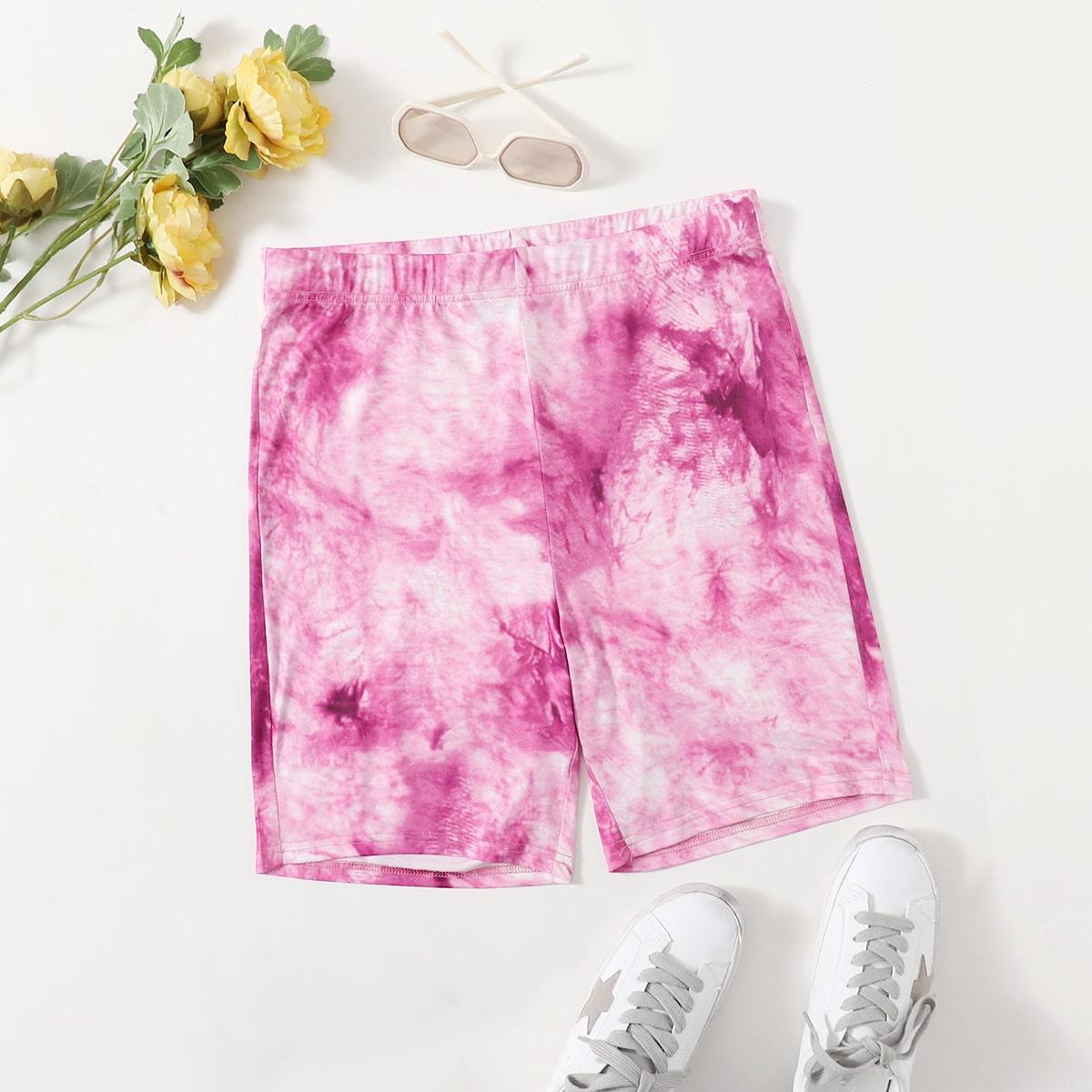 SHEIN Casual Tie dye Grote maat: legging