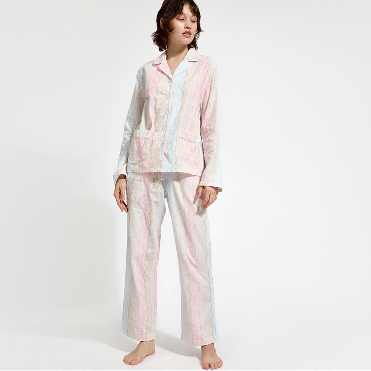 с карманами Повседневный Комплект пижамы