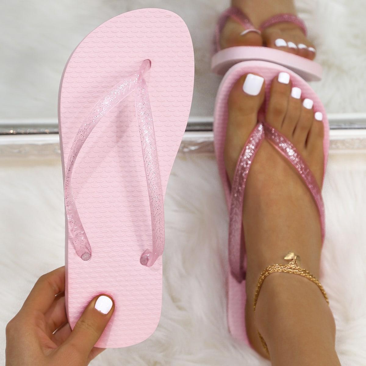Блестящие вьетнамки SheIn swshoes03210128956