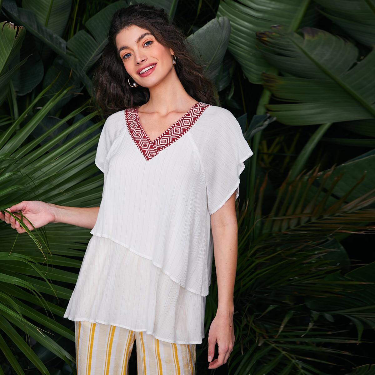 лента Геометрический Бохо Блузы по цене 646
