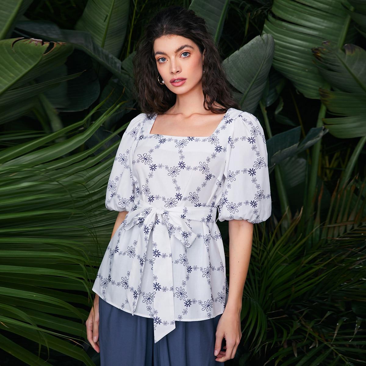 Пояс Цветочный Бохо Блузы по цене 728