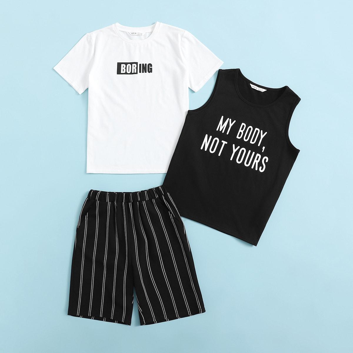 буква Повседневный Домашняя одежда для мальчиков